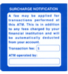 ATM Notification Decals