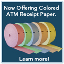 Colored ATM Receipt Paper