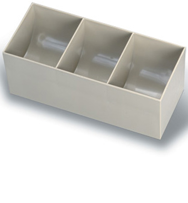 Three Compartment Coin Scoop Insert