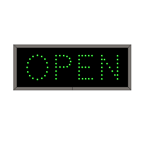 Led Open Sign Green Open Sign Led