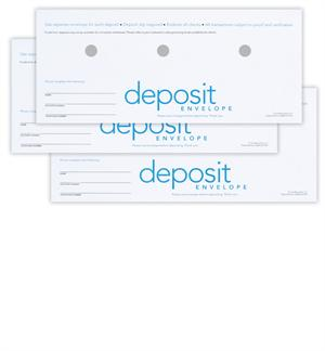 Diebold Opteva/ix/i ATM Deposit Envelopes - Standard Design with Pre-punch