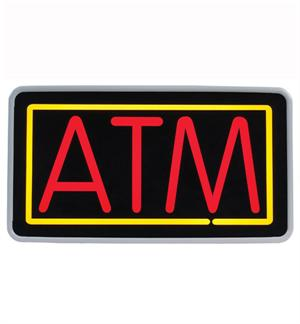 "Fluorescent ""ATM"" Sign"