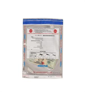 "Tamper Evident Cash Bag - 9"" x 12"""