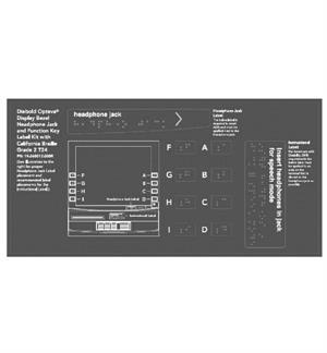 2010 ADA Compliant Function Keys and Headphone Jack Label Kit for Opteva 529