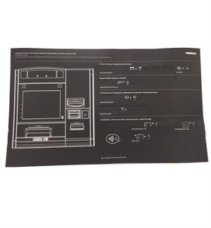 DieboldNixdorf 57xx & 77xx Fascia Label Kit with California Braille Grade 2 t24 - ADA COMPLIANT