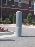 Decorative Guard Post Cover - Ribbed