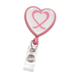Pink Awareness Badge Reels and Lanyards