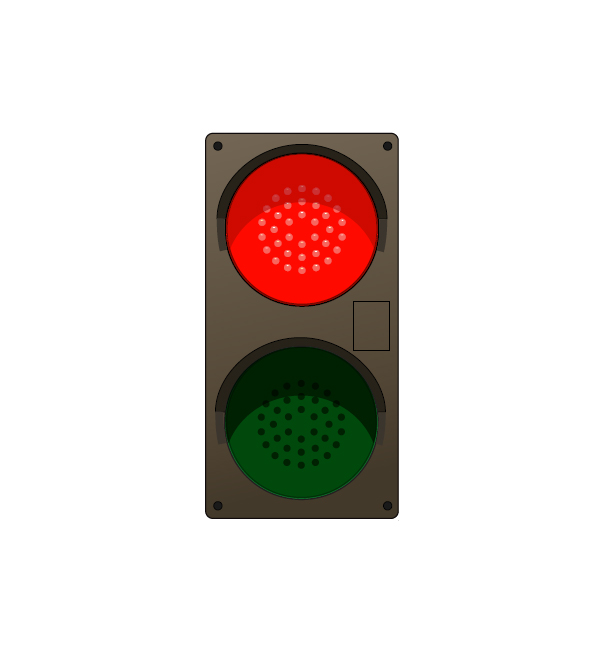 Led Traffic Light Vertical Red Green