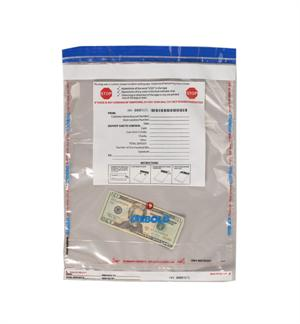 "Tamper Evident Cash Bag - 13.25"" x 16.25"""